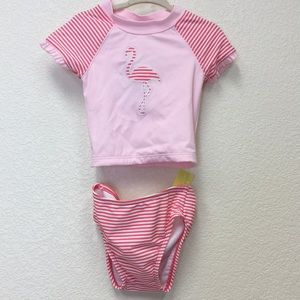 NWT Janie and Jack 2-piece rash guard bathing suit